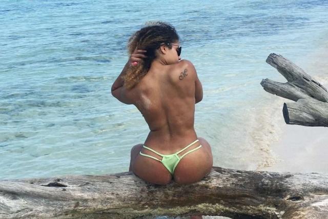 Customer in a Brazilian Bikini