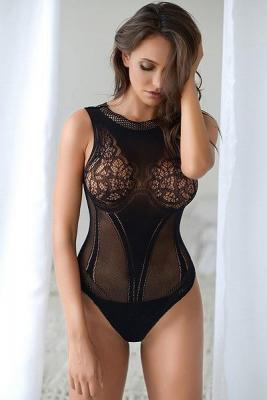 Lace Corset Back Romper Bodystocking