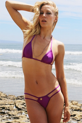 NEW! Strappy String Thong Bikini in PASSION